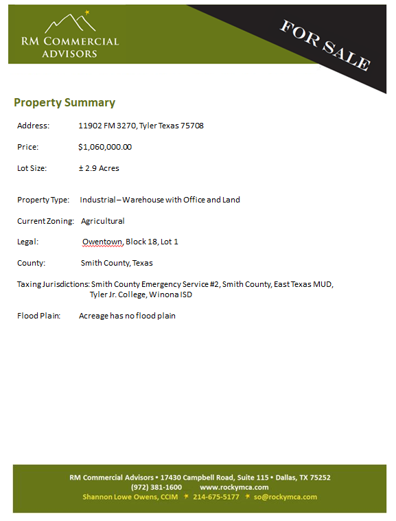 ~ For Sale Summary Page